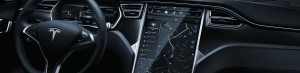 BIZDRIVE Business Taxi Rotterdam Tesla Model S Dahboard