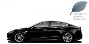 BIZDRIVE Business Taxi Rotterdam Tesla Model S ECO