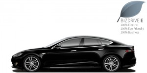 BIZDRIVE Business Taxi Rotterdam Tesla Model S ECO-DRIVE